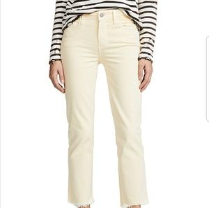 Paige Faded Pastel Yellow Jeans